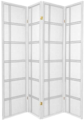 New products world's highest quality popular OFFicial mail order ORIENTAL Furniture 6 ft. Tall Double Shoji Cross - Screen White