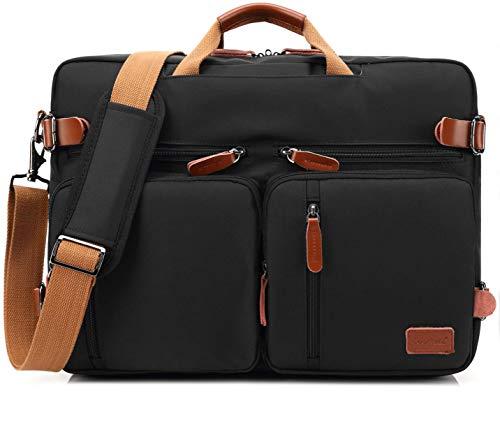 CoolBELL Cabrio-Rucksack mit Reisetasche, Messenger und Laptop (multifunktional) 17,3Zoll Schwarz