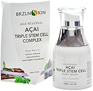 Sponsored Ad - Acai Triple Stem Cell Overnight Face Lotion Mask Sleep Complex with Nourishing and Breathable Formula by BR...
