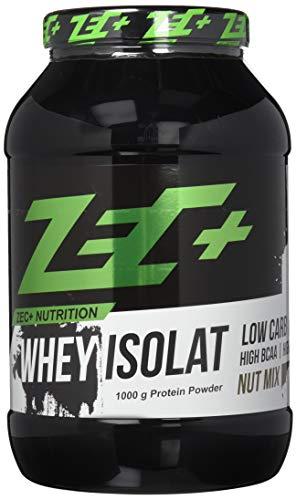 ZEC+ Whey Isolat - Nut-Mix 1000 g - Fettarmes Eiweißpulver aus reinem Molkenprotein