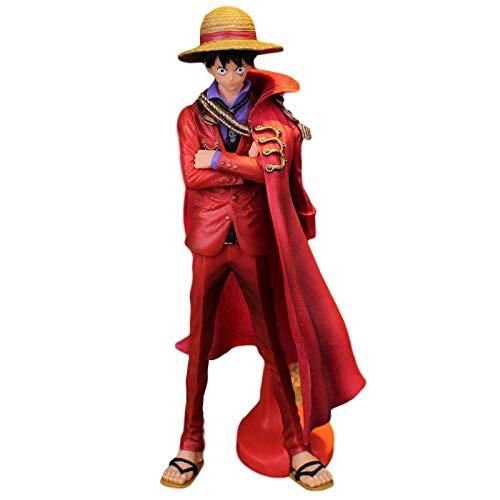 Altos 25 cm de una pieza Art King rojo Luffy Sombrero de paja en caja de regalo de regalo de escultura en caja Anime