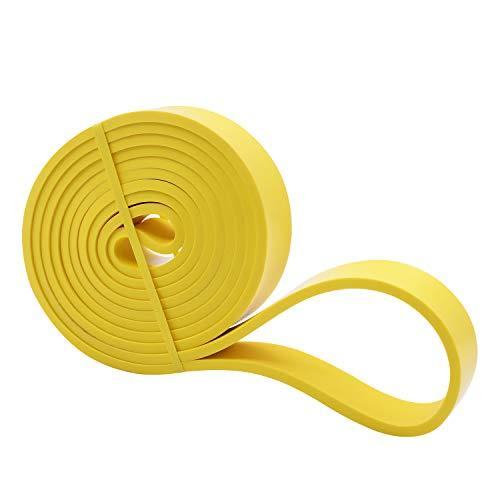 Amazon Brand - Umi -Banda Elástica de Resistencia Cuerda de Fuerza para Fitness, Crossfit, Pilates, Estiramientos,Dominadas (2 - Light (Amarillo))