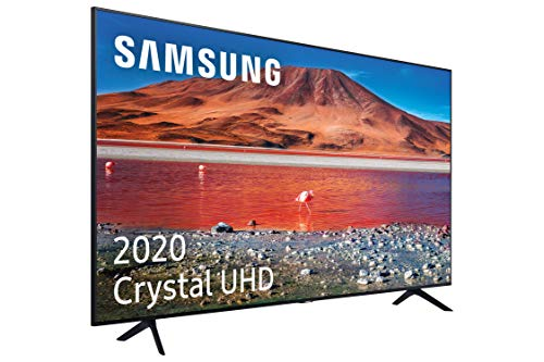 "Samsung Crystal UHD 2020 43TU7005- Smart TV de 43"", Resolución 4K, HDR 10+, Crystal Display, Procesador 4K, Función One Remote Control y Compatible con Asistente de Voz"