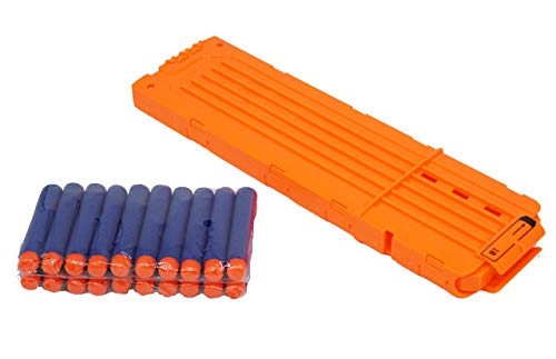 Linn James 18-Dart Bullet Quick Reload Clip - This Magazine Cartridge is Great for Play with Nerf Guns N-Strike Elite Series Foam Dart Blasters and Accessories
