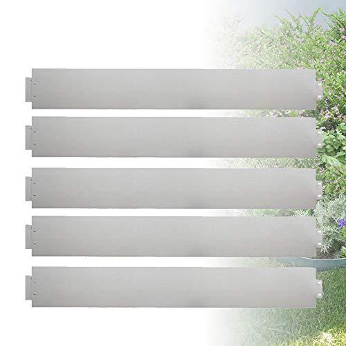 Froadp 40m Bordes del Césped Jardín Flexible de Flores Ribete Ajustable Fuerte Galvanizado Metal Delimitadores de Fronteras para Jardín Plantas Hierba Vegetal Crecimiento Floral(100x15cm)