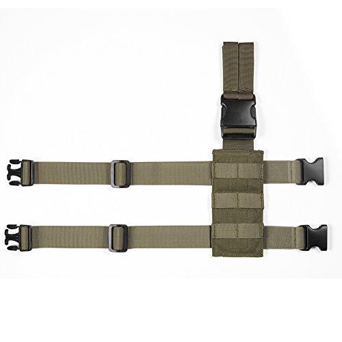 OneTigris Taktische Molle Beinplatte Beinplatform für Pistolenholster (Waldläufer Grün)