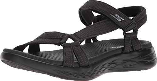 Skechers Damen On The Go 600 15316-bbk Sport Sandalen, Schwarz (Black), 38 EU