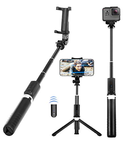 Yunteng 40 Inch Selfie Stick, Selfie Stick Tripod with Wireless Remote, Phone Tripod Stand Compatible with iPhone 12 11 pro Samsung