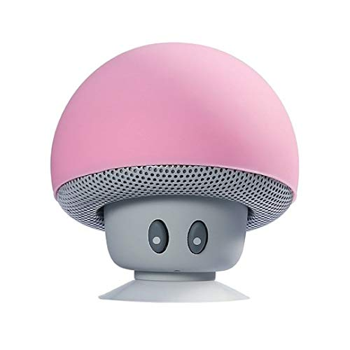 ERKEJI Altavoz Bluetooth Soporte de teléfono Mini Audio pequeño Bluetooth Altavoz aspiración Inteligente Creativa cabecita de champiñón