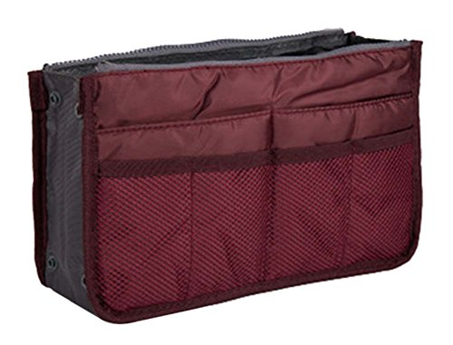 multifonction pochette de Voyage Portable Wash Bag Cosmetic Bag, vin rouge