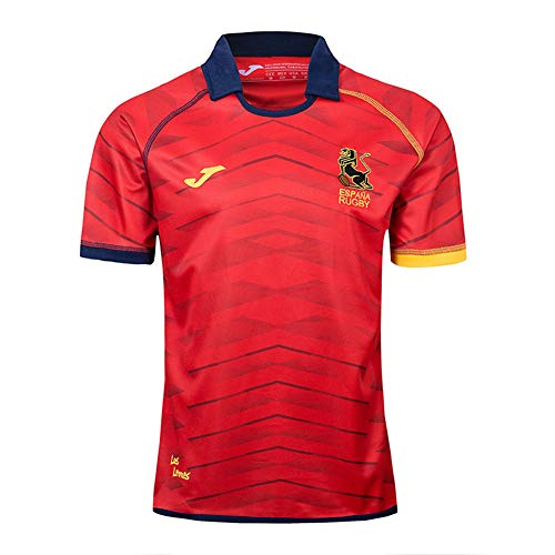 JUNBABY Camiseta De Rugby Español 2019,Camiseta De FúTbol Equipo Nacional España Hombre Camisa De Atleta