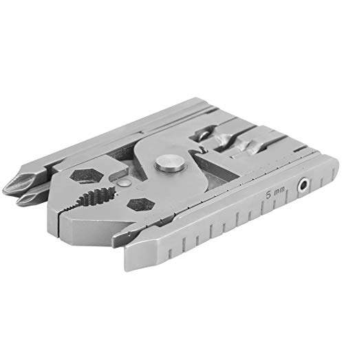 Blantye Juego de alicates multifuncionales 25 en 1 para exteriores, herramienta múltiple de acero inoxidable con llave para cuchillos