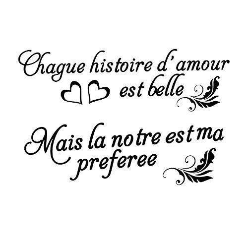 Français Stickers Muraux Amovibles Stickers Mural Citations Prononcés Mots Art Décor (style 1)