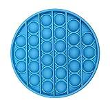 Juguete Antiestrés Popit Burbuja, Fortalecedor de Mano, Juguete de Agarre para Ejercicios, Rehabilitación Fortalecimiento de Manos y Dedos Fidget Toy Push Pop Bubble (Azul)
