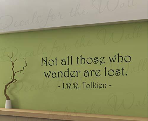 pegatinas de pared mariposas No todos los que vagan están perdidos por la sala de estar, el cuarto de los niños, la habitación de los niños.
