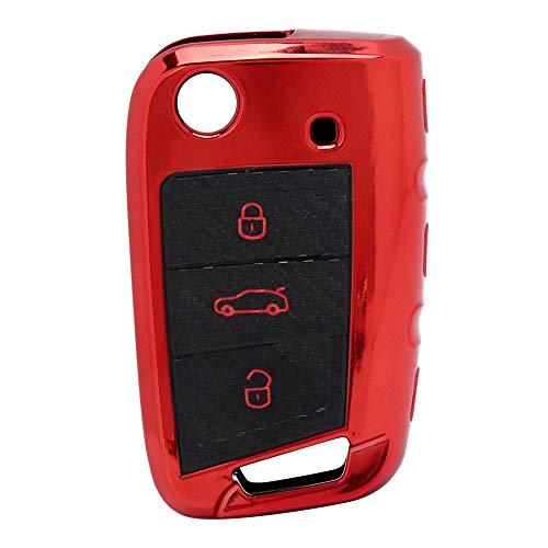 Mando a distancia para coche, funda para llave de coche, piezas de llave de entrada remota Fob de entrada de coche, para hombres Funda para llave inteligente de(red)