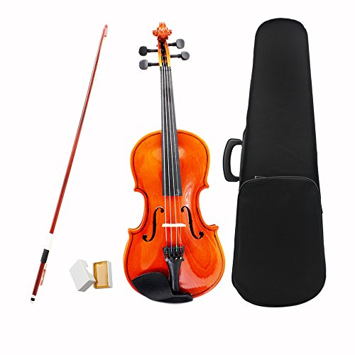 ammoon 3/4 Violin Fiddle Basswood Steel String Arbor Bow Stringed Instrument Musical Toy for Kids Beginners
