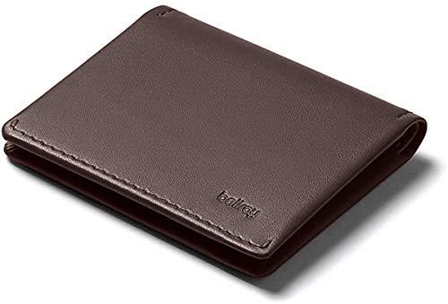 Bellroy Leather Slim Sleeve Wallet, Minimalistische Geldbörse mit Fronttasche - Java Caramel