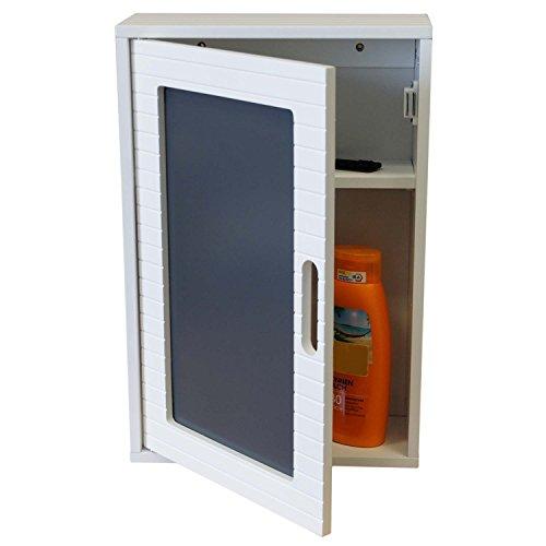 Multistore 2002 Wandschrank 48x32x13cm Badezimmerschrank Hängeschrank mit Tür für Bad und Flur Schränkchen