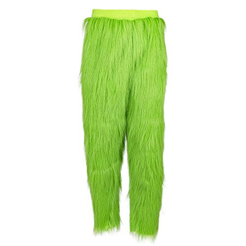 CosIdol Green Pants Bottoms mit Fur Long Trousers Warm Fuzzy Pajama Sleep Pants Erwachsene & Kinder M