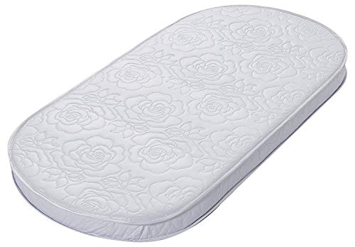 Buy Discount Big Oshi Waterproof Oval Baby Bassinet Mattress, White, 16 x 30 x 2 Inch
