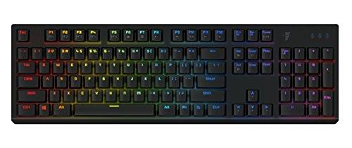 Tesoro Gram Spectrum Mechanische Gaming Tastatur Schwarz QWERTZ Deutsches Tastaturlayout mit individuell Einstellbarer RGB Beleuchtung und Tesoro Agile Red Switches