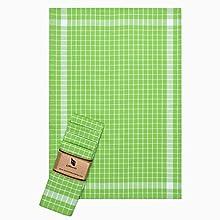 ElfRoutes Paños de Cocina Juego de paños de Cocina 100% algodón - Paquete de 5 a 45 x 65 cm - paños de Cocina de algodón en un diseño mediterráneo - Verde