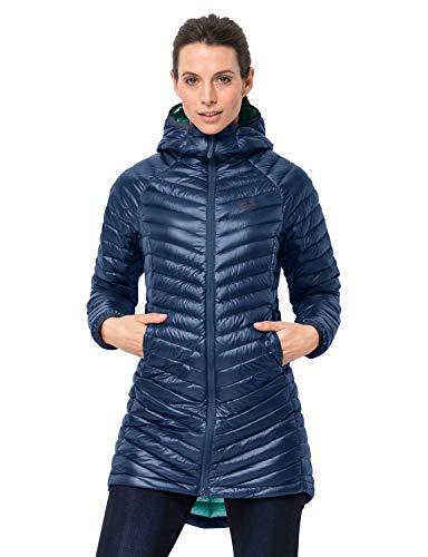 Jack Wolfskin Atmosphere Coat W Debajo-Prenda Exterior-Abrigos, Mujer, Azul (Porcelain Blue), XS