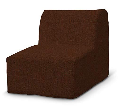Dekoria Lycksele Sesselbezug Sofahusse passend für IKEA Modell Lycksele orange-schwarz