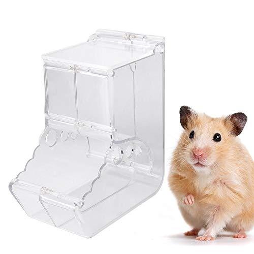 Hamster Feeder, Acryl Automatische Feeder Voerbak voor Eekhoorn Egel Cavia Rat Gerbil Muis Vogels
