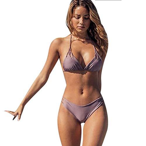 Calvinbi Costumi da Bagno Sexy da Donna Bikini Push-Up Imbottito Costumi da Bagno in Due Pezzi Costumi da Bagno