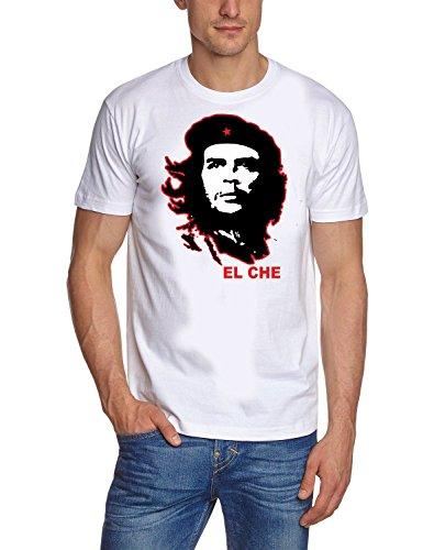 Coole-Fun-t-Shirts Herren t-Shirt Che Guevara EL CHEWEISS, GR.XL