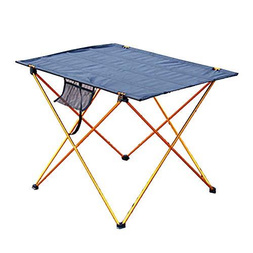 Mesa Plegable BLTLYX Mesa Plegable Portatil Exterior Portátil Plegable Camping Muebles De Cocina Picnic 6061 Color De Luz Anti Resbalón Escritorio Plegable S 56x43x38cm Dorado