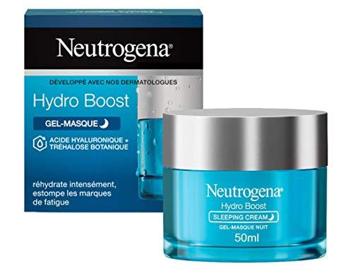 Neutrogena Hydro Boost, Crème Hydratante Visage de Nuit, Soin Visage, 1 Pot de 50ml