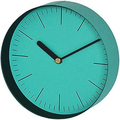 岩嵜紙器 掛け時計 enough Clock M Line/ブルー 16.8×5×16.8cm