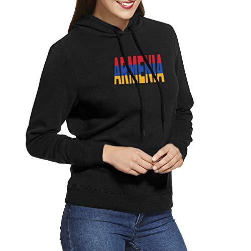 LLiopn Armenian Flag Armenia Pullover Hoodie Women's Long Sleeve Tops Hooded Sweatshirts XXL