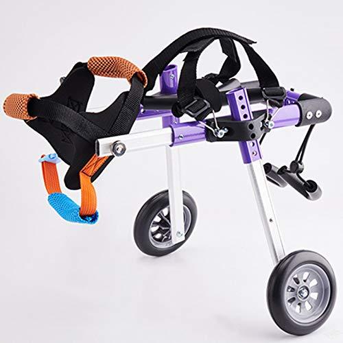 Rehabilitación De Perros Discapacitados Silla De Ruedas Ajustable Silla De Ruedas para Mascotas Paralizada Scooter para Discapacitados para Mascotas Pequeñas,S