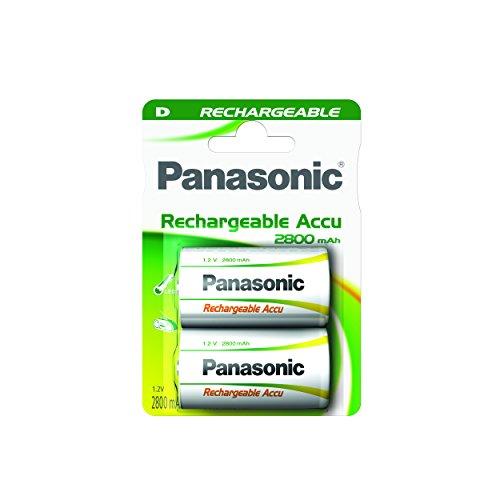 Panasonic P20P/2BC Rechargeable Accu Power Mono D Batterie (1,2V, 3000mAh, 2-er Pack)