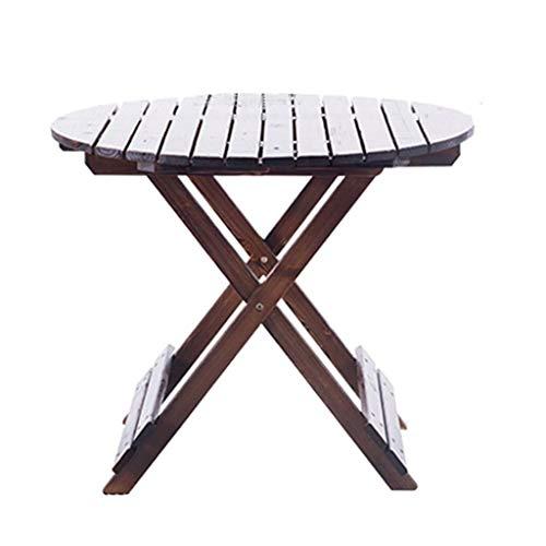 La Table Pliante Extérieure, La Conception Épaissie, Durable, Rendent Le Dessus De Table Plus Durable, La Table Et Les Chaises De Jardin De (Color : Brown, Size : 90cm*90cm*75cm)