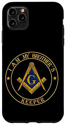iPhone 11 Pro Max I am my brother's keeper - Masonic symbol lodge Freemason Case
