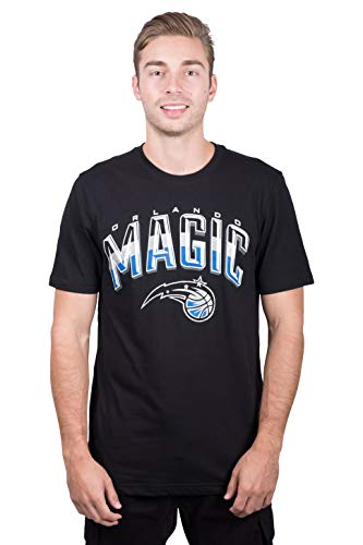 Ultra Game NBA Orlando Magic Mens Arched Plexi Short Sleeve Tee Shirt, Black, Small