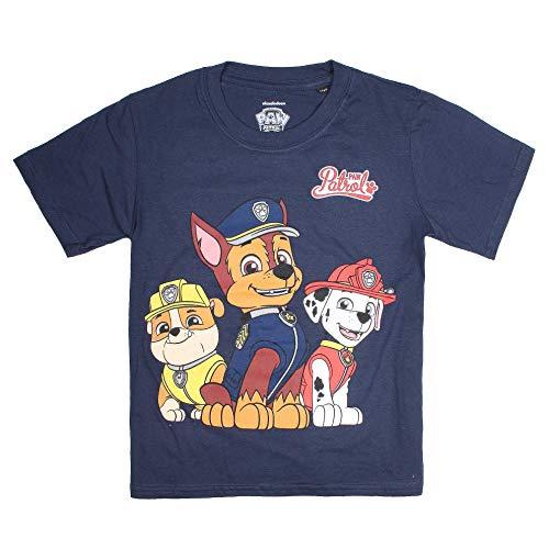 PAW PATROL Jungen Group T-Shirt, Blau Navy, 3-4 Jahre (Herstellergröße: X-Small)