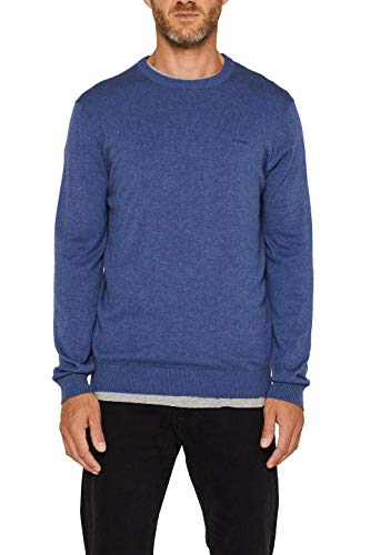 ESPRIT Herren 996EE2I900 Pullover, 405/DARK Blue, XXL