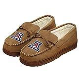 FOCO NCAA Arizona Wildcats Mens College Team Logo Moccasin Slippers ShoesCollege Team Logo Moccasin Slippers Shoes, Tan, XL (13-14)