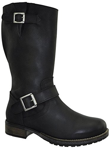 JJ Footwear Women's Le Havre XL 40.4 cm - 48.1 cm Schwarz Grain Nubuck Leather Boot