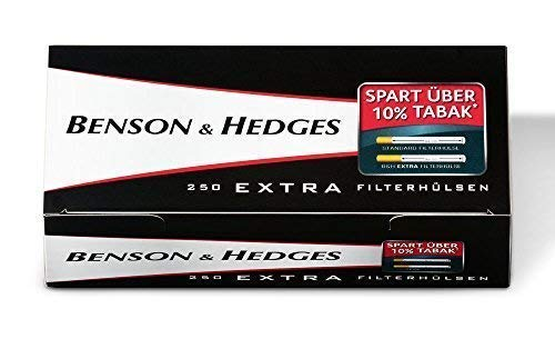 Preisvergleich Produktbild 2000 (8x250) Benson & Hedges EXTRA (Hülsen,  Filterhülsen,  Zigarettenhülsen)