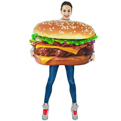 SEA HARE Costume da Hamburger Adulto Unisex con Stampa Digitale 3D