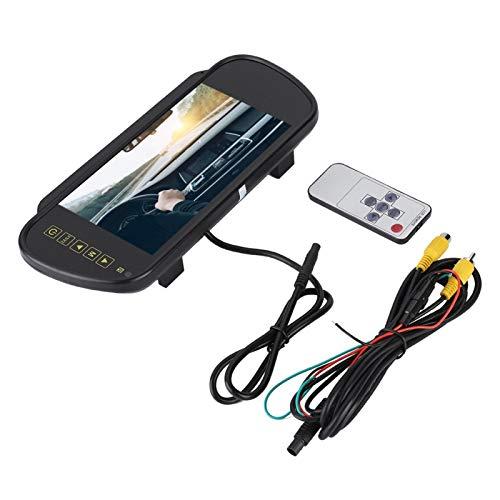 Cámara de visión Trasera de Repuesto de Monitor de atenuación automática de Espejo retrovisor de Coche de 7 Pulgadas con Soporte Universal para Coches y Camiones