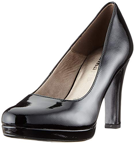 Tamaris Damen 1-1-22426-24 Pumps, Schwarz (Black PATENT 018), 37 EU