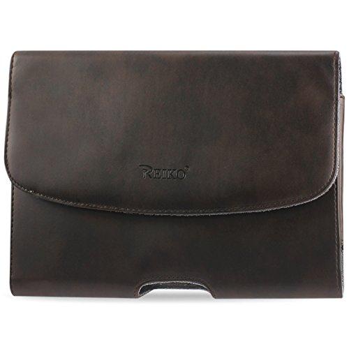 Reiko hp102C-ipad 3plbr Horizontal Pferd Skin Muster Case für Apple iPad 3Plus–braun
